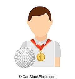 meda, vincitore, posto, avatar, sport, primo