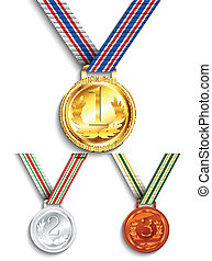 medaglia, argento, bronzo, oro