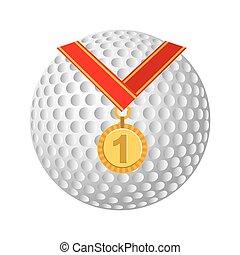 medaglia, campionato, posto, primo