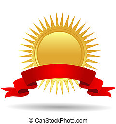 medaglia, nastro oro
