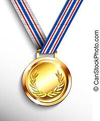 medaille, goud