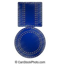 medaille, illustratie, meldingsbord