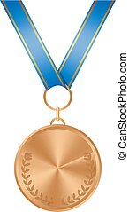 medal., 隔離された, 銅