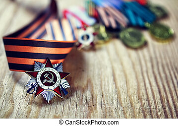 Medal and the Order of World War USSR - military award for...