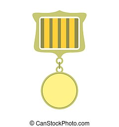 Medal award military flat icon