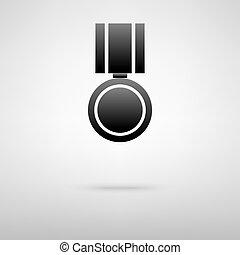 Medal black icon