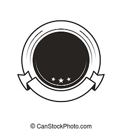 Medal for Win Blank Template Round Monochrome Logo