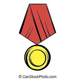 Medal icon cartoon