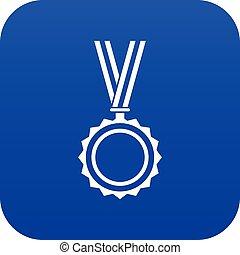 Medal icon digital blue