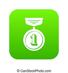 Medal icon green