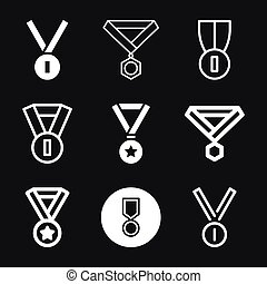 Medal icon isolated on background. Vector illustration.