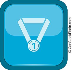 Medal icon on a blue button