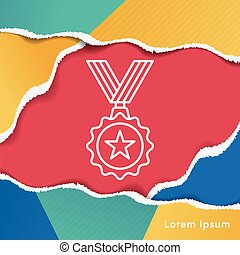 medal line icon