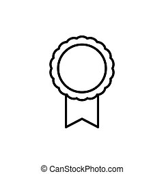 Medal line icon. Vector template design
