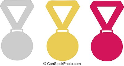 Medal of honor icon on white background