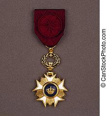 medal on vintage backgroun