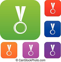 Medal set color collection
