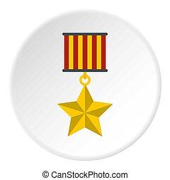 Medal star icon circle