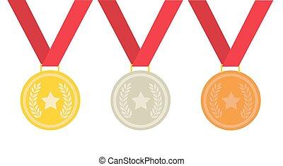 medal vector illustration on white