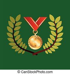 medal win olympic games emblem