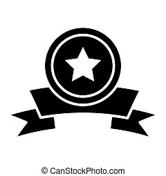 Medal with a star award solid icon. vector illustration isolated on white. glyph style design, designed for web and app. Eps 10