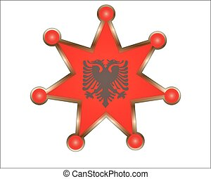 medal with the national flag of Albania