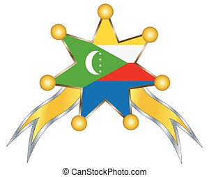 medal with the national flag of Comoros.