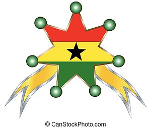 medal with the national flag of Ghana
