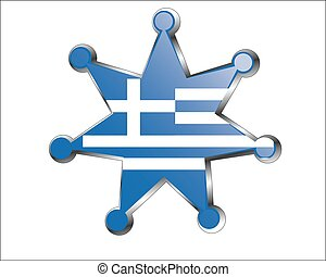 medal with the national flag of Greece