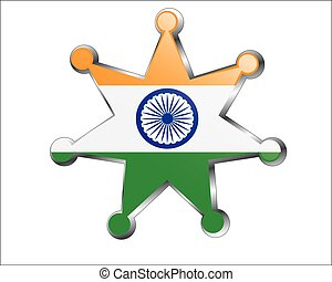 medal with the national flag of Indian