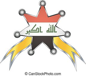 medal with the national flag of Iraq