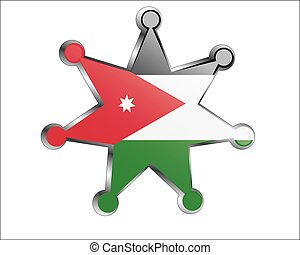 medal with the national flag of Jordan