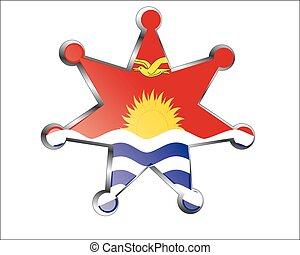 medal with the national flag of Kiribati