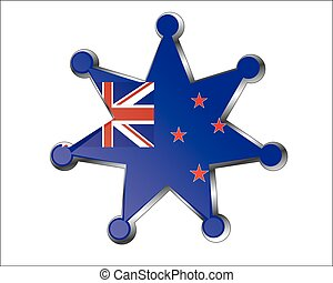medal with the national flag of New Zealand