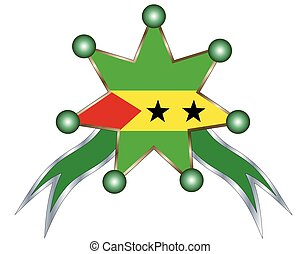 medal with the national flag of Sao Tome & Principe