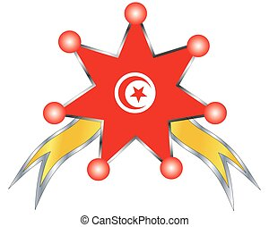 medal with the national flag of Tunisia
