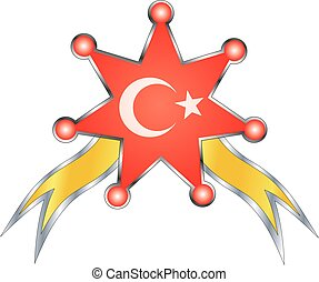 medal with the national flag of Turkey