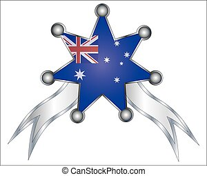 medal with the national flag of Australia