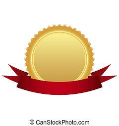 medal, złoty