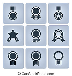 medalha, distinção, ícones