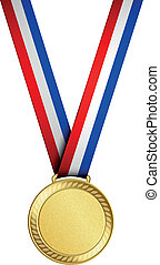 medalha, ouro