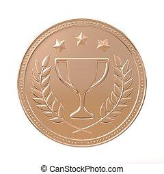 medalj, brons