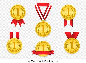 medaljer, bånd