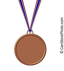 medalla, bronce