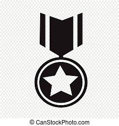medalla, icono