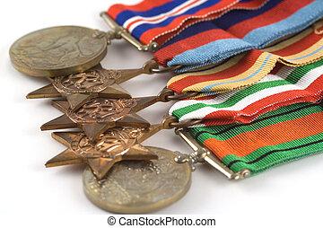 medallas, valor
