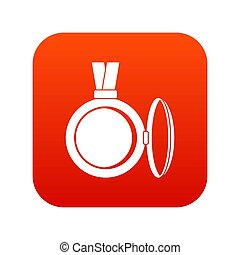 Medallion icon digital red