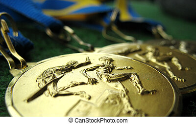 Medals 4 - Athletics medals for a winner or champion