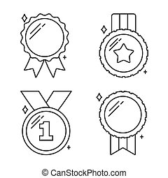 Medals Line Icons