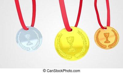 Medals loop animation
